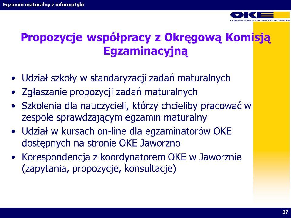 Propozycje współpracy z Okręgową Komisją Egzaminacyjną