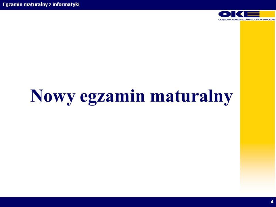 Nowy egzamin maturalny