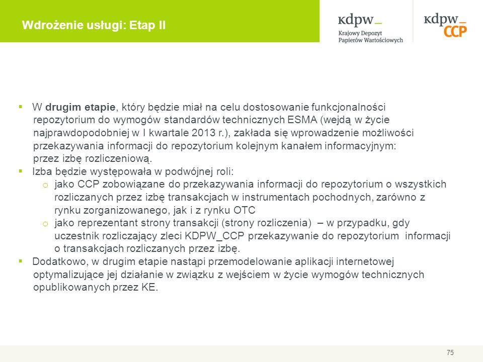 Wdrożenie usługi: Etap II