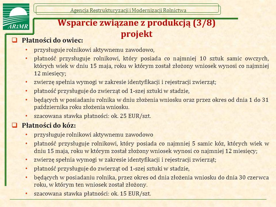 Wsparcie związane z produkcją (3/8) projekt