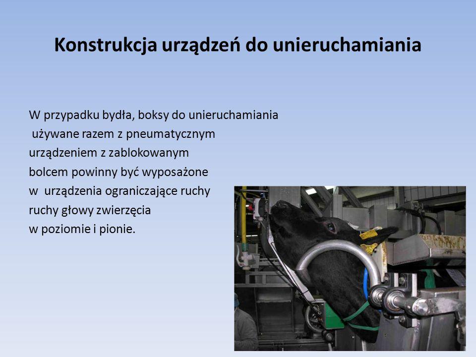 Konstrukcja urządzeń do unieruchamiania