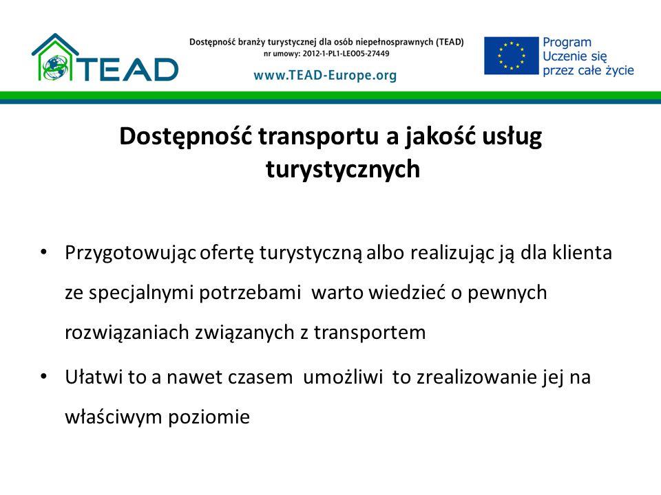 Dostępność transportu a jakość usług turystycznych