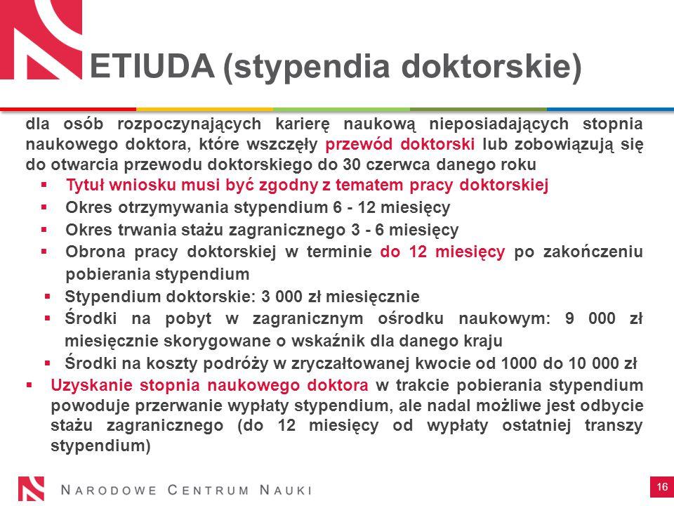 ETIUDA (stypendia doktorskie)