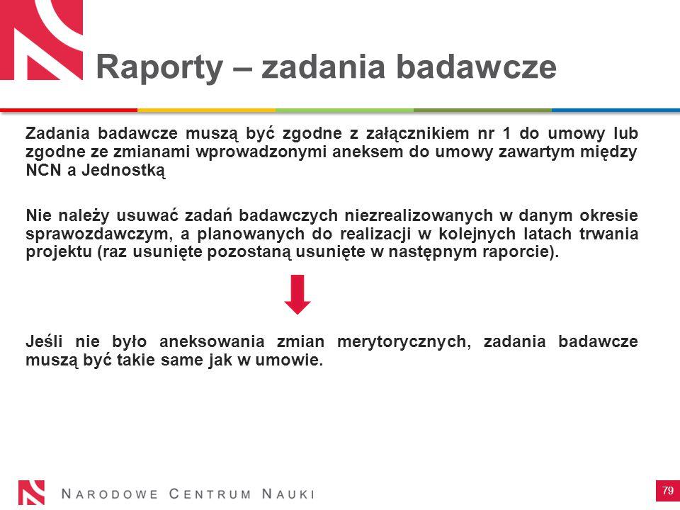 Raporty – zadania badawcze