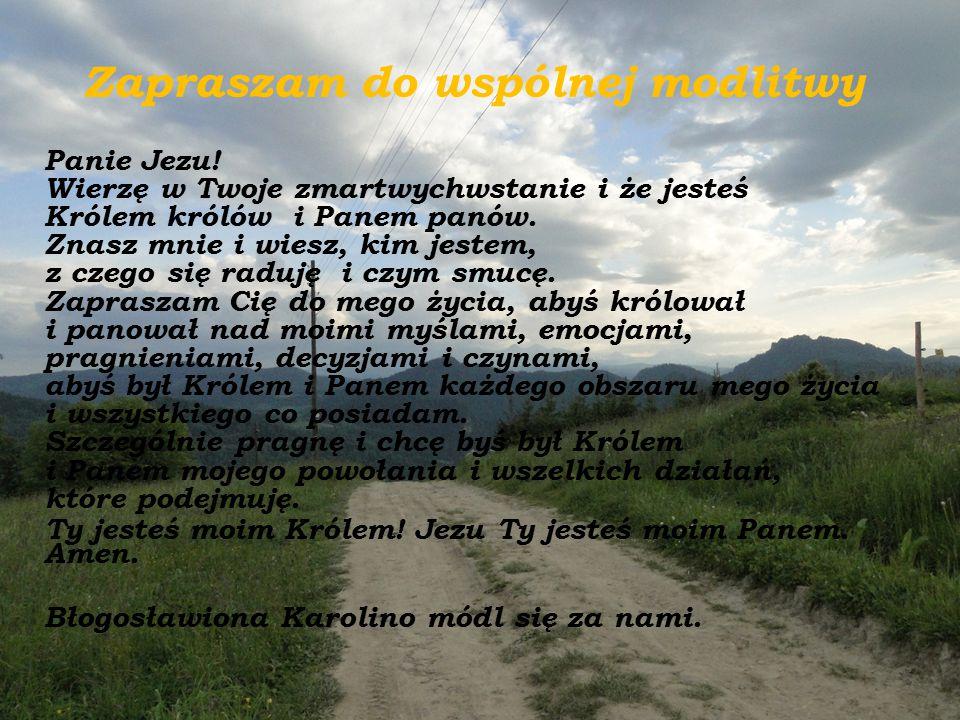 Zapraszam do wspólnej modlitwy
