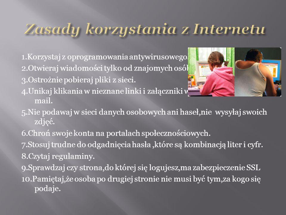 Zasady korzystania z Internetu