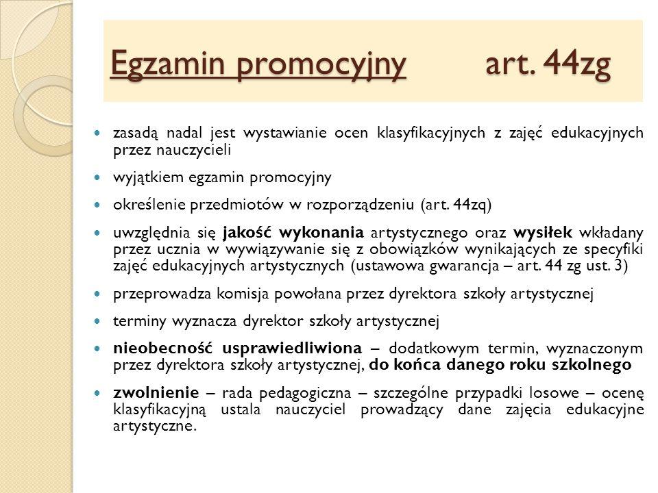 Egzamin promocyjny art. 44zg