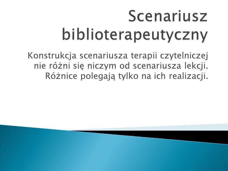 Scenariusz biblioterapeutyczny