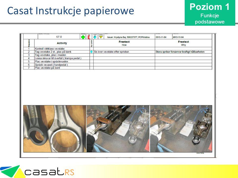 Casat Instrukcje papierowe