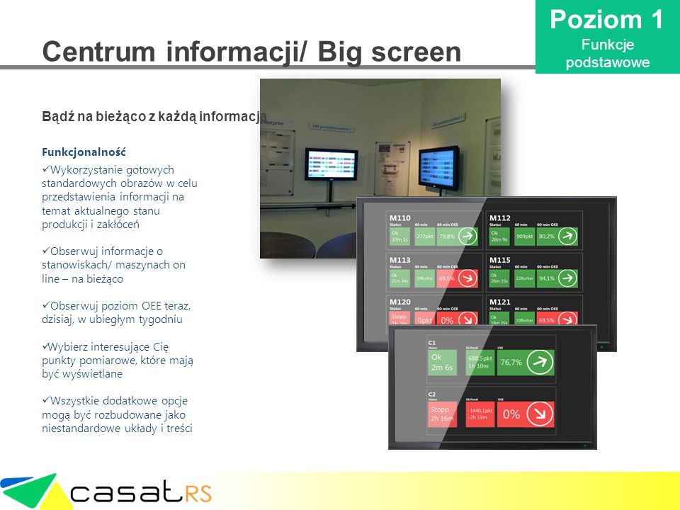 Centrum informacji/ Big screen
