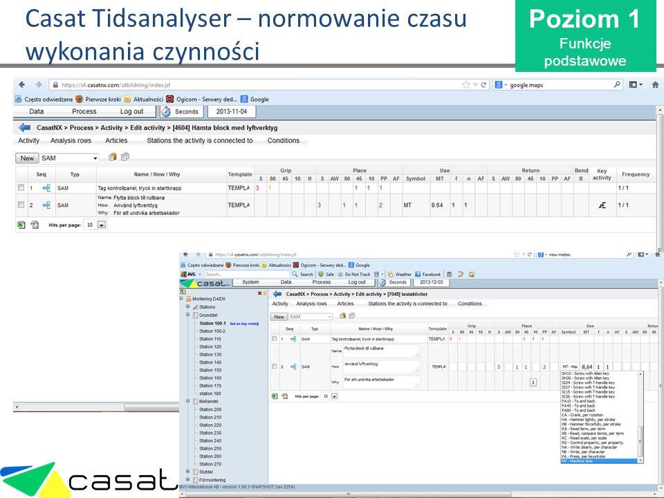 Casat Tidsanalyser – normowanie czasu wykonania czynności
