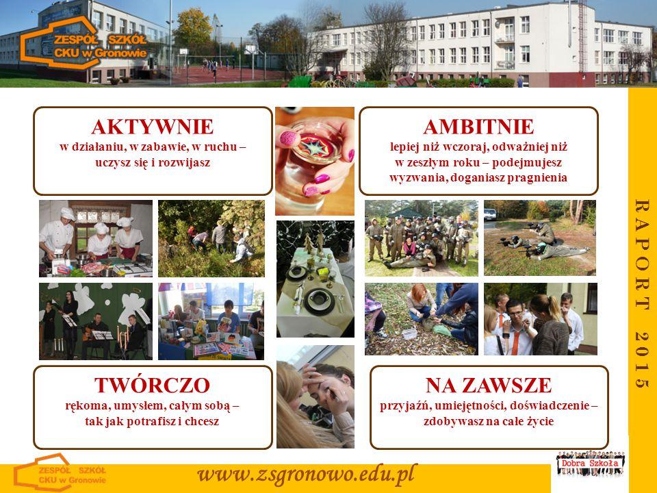 www.zsgronowo.edu.pl AKTYWNIE AMBITNIE TWÓRCZO NA ZAWSZE