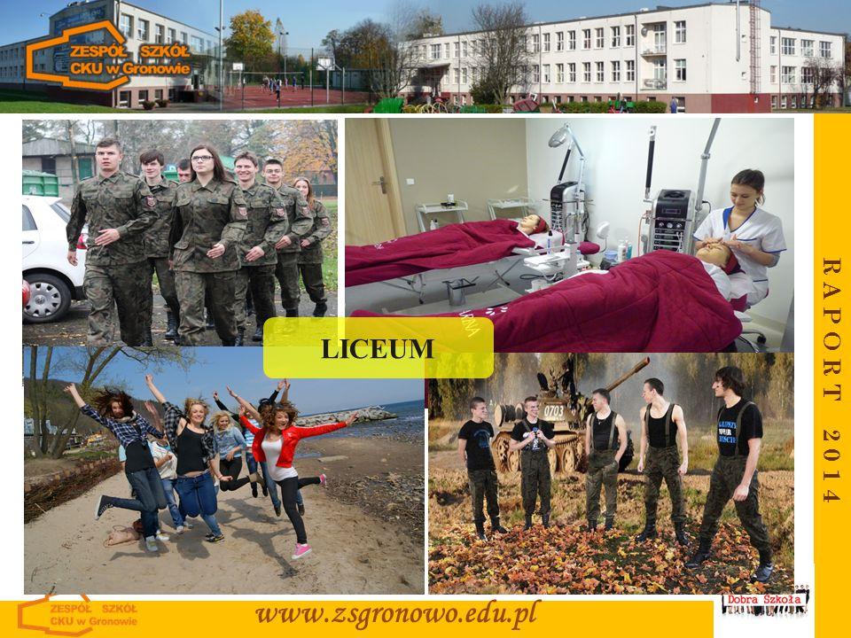 LICEUM R A P O R T 2 0 1 4 www.zsgronowo.edu.pl