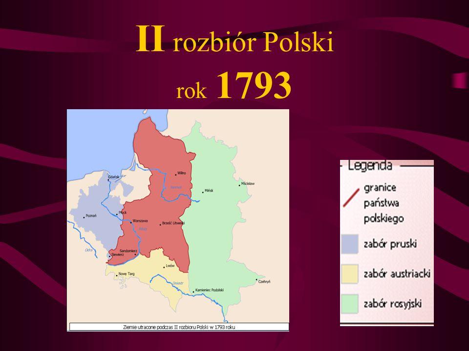 II rozbiór Polski rok 1793