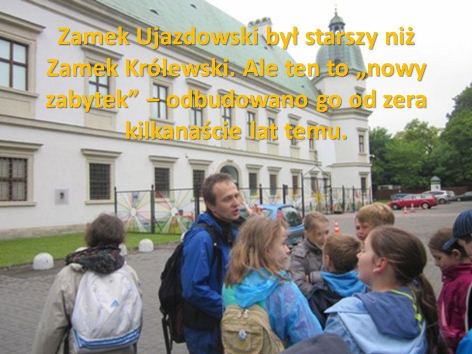 Zamek Ujazdowski był starszy niż Zamek Królewski
