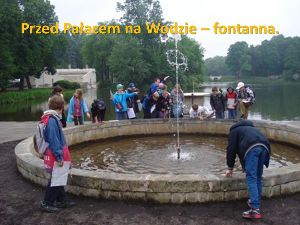 Przed Pałacem na Wodzie – fontanna.