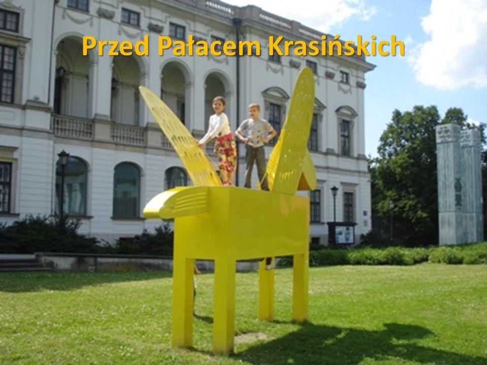 Przed Pałacem Krasińskich