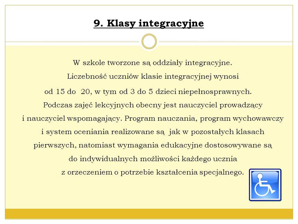 9. Klasy integracyjne