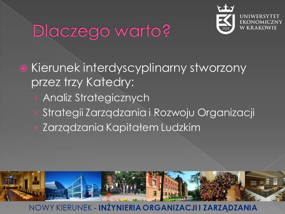 Dlaczego warto Kierunek interdyscyplinarny stworzony przez trzy Katedry: Analiz Strategicznych. Strategii Zarządzania i Rozwoju Organizacji.