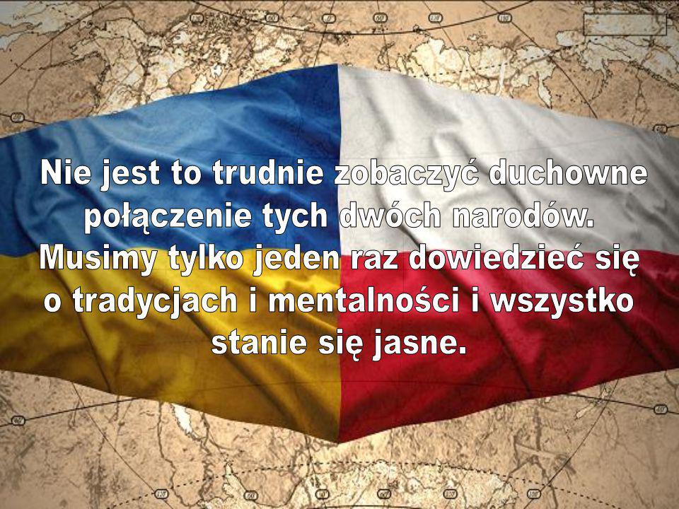 Nie jest to trudnie zobaczyć duchowne połączenie tych dwóch narodów.