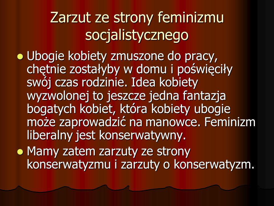 Zarzut ze strony feminizmu socjalistycznego