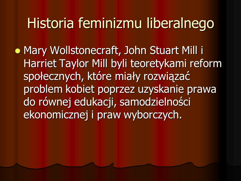 Historia feminizmu liberalnego