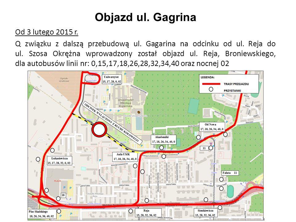 Objazd ul. Gagrina