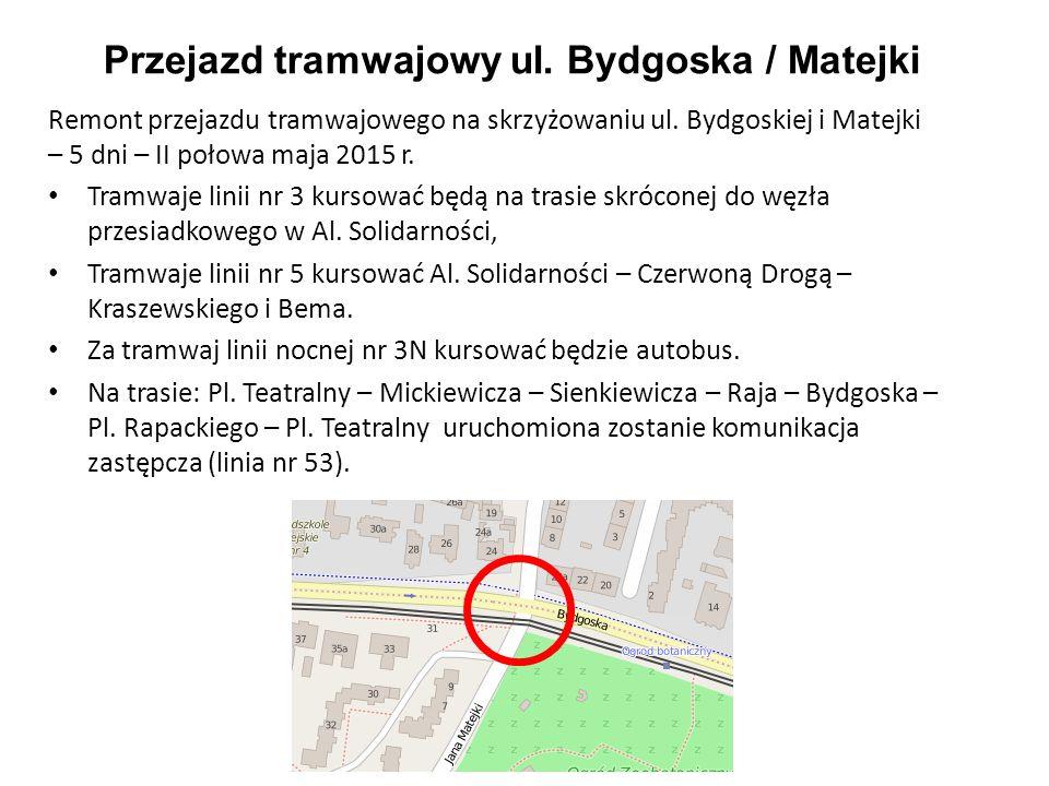 Przejazd tramwajowy ul. Bydgoska / Matejki
