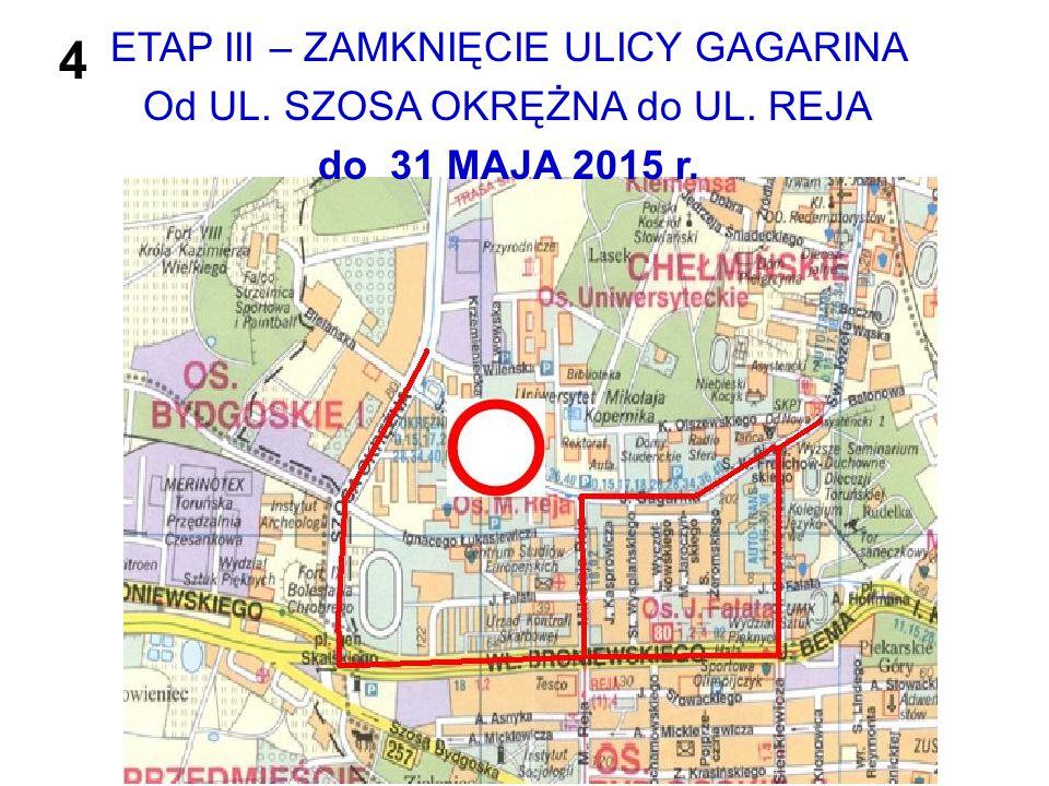 4 ETAP III – ZAMKNIĘCIE ULICY GAGARINA