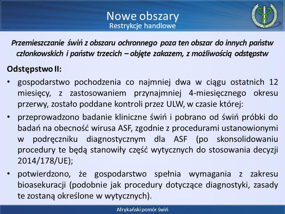Nowe obszary Odstępstwo II: