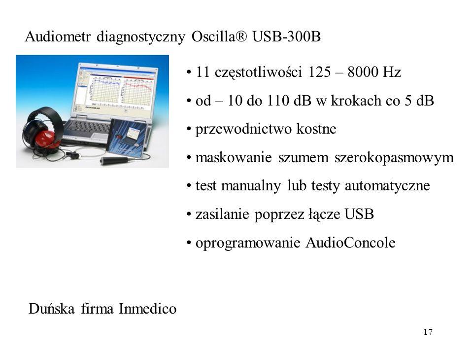 Audiometr diagnostyczny Oscilla® USB-300B