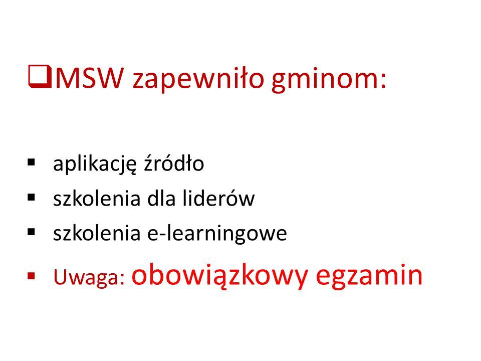 MSW zapewniło gminom: aplikację źródło szkolenia dla liderów