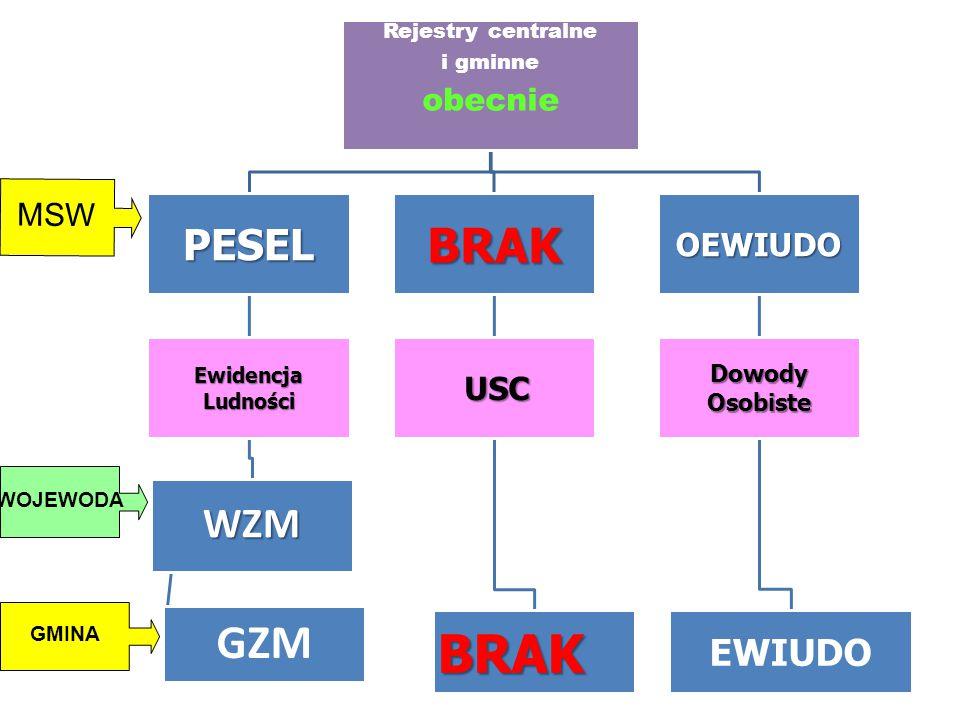 Rejestry centralne i gminne