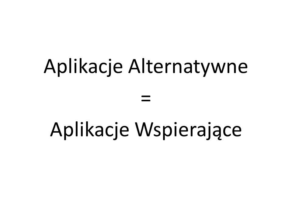 Aplikacje Alternatywne = Aplikacje Wspierające