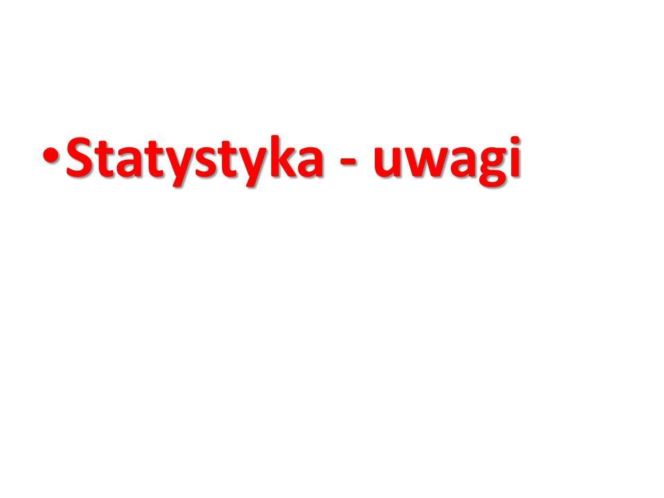 Statystyka - uwagi
