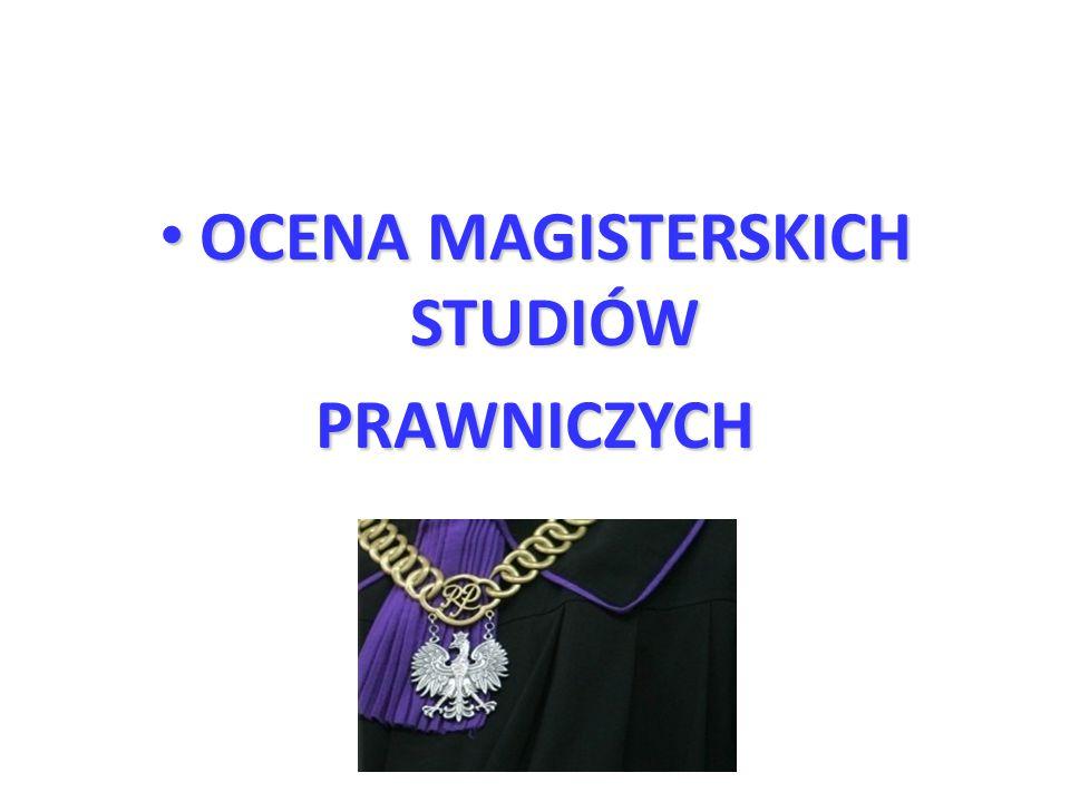 OCENA MAGISTERSKICH STUDIÓW