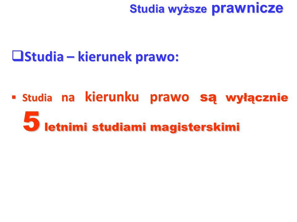Studia – kierunek prawo: