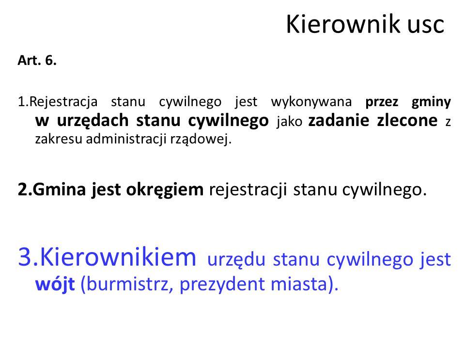 Kierownik usc Art. 6.