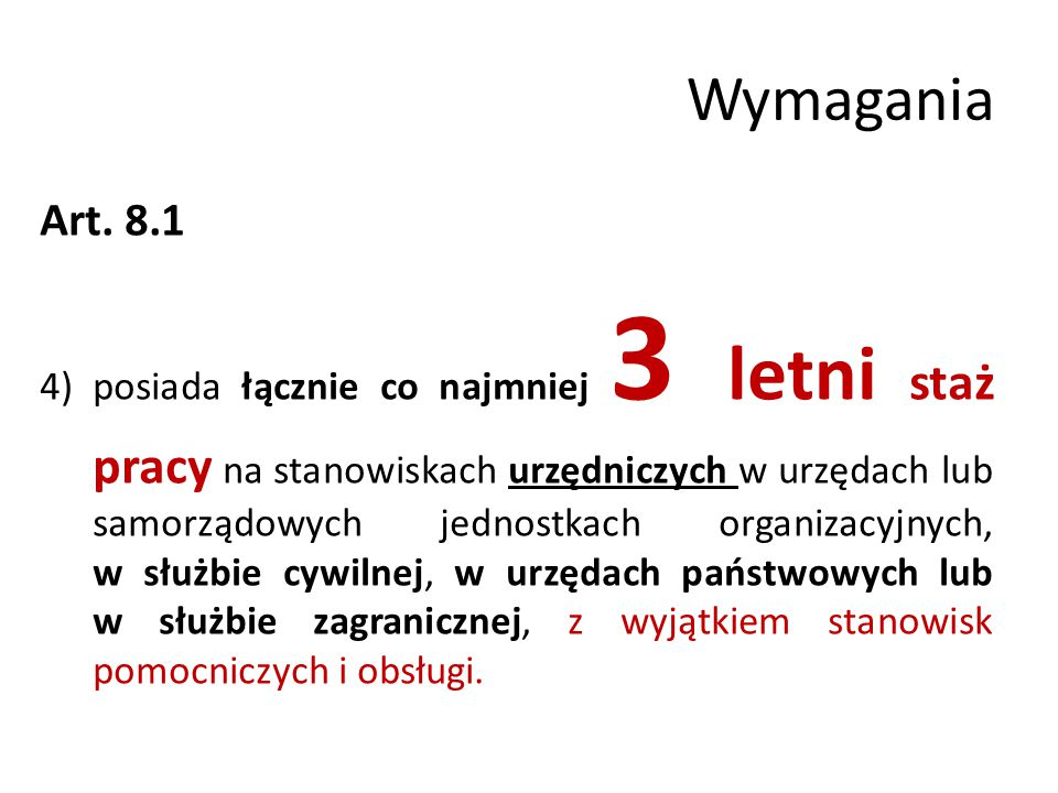 Wymagania Art. 8.1.