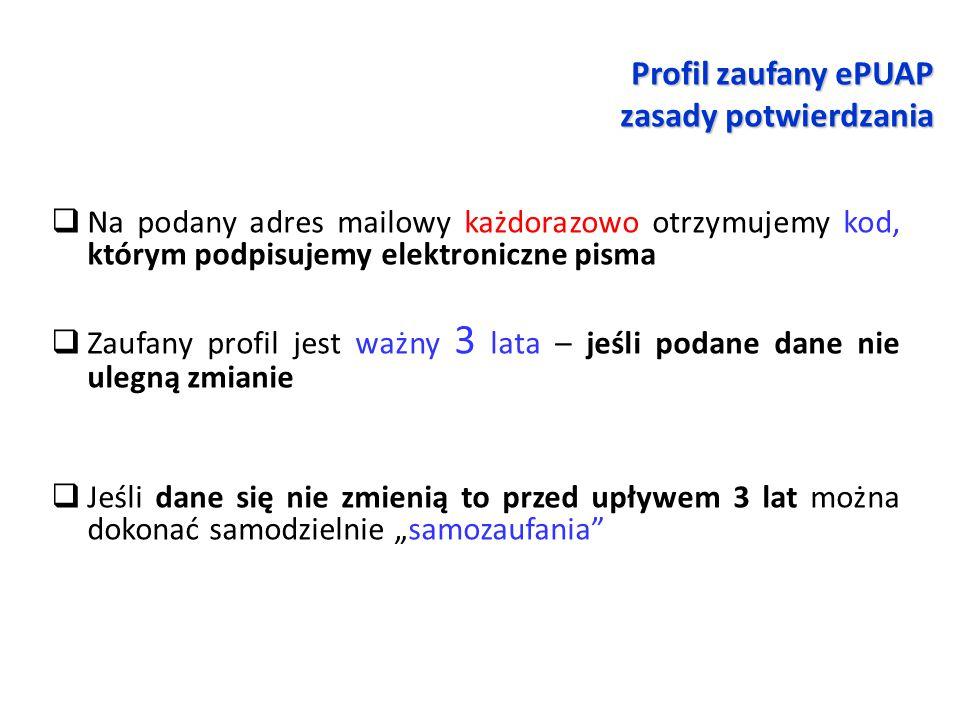 Profil zaufany ePUAP zasady potwierdzania