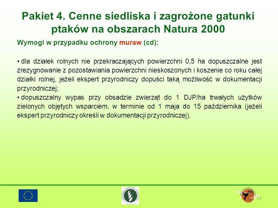 Pakiet 4. Cenne siedliska i zagrożone gatunki ptaków na obszarach Natura 2000