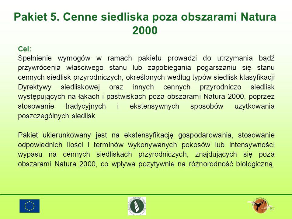 Pakiet 5. Cenne siedliska poza obszarami Natura 2000