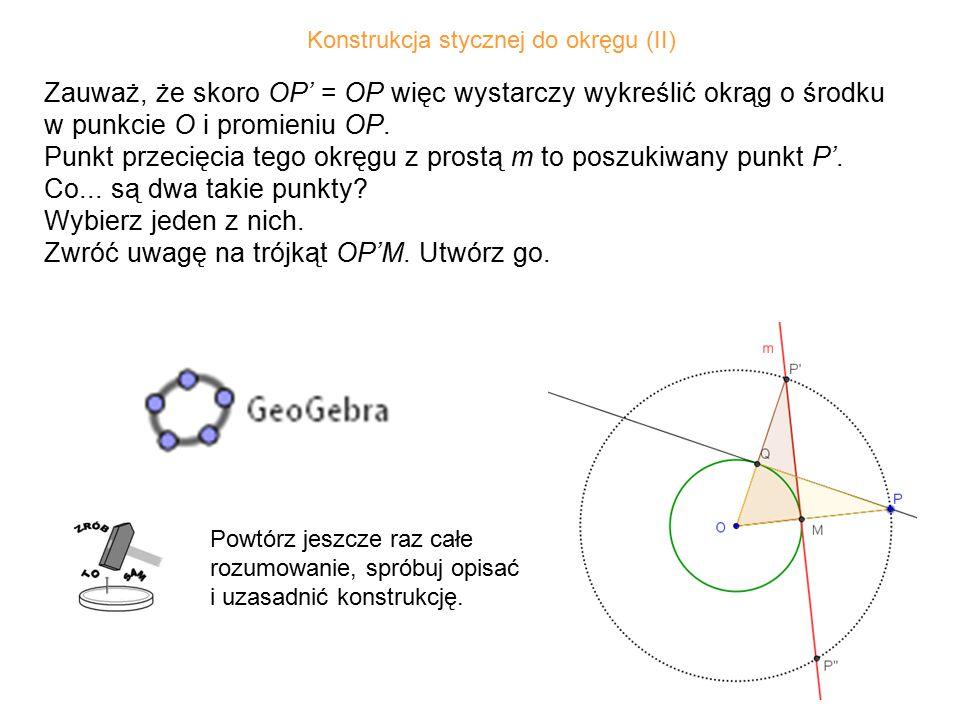 Konstrukcja stycznej do okręgu (II)