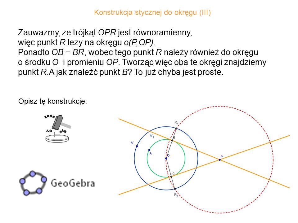 Konstrukcja stycznej do okręgu (III)