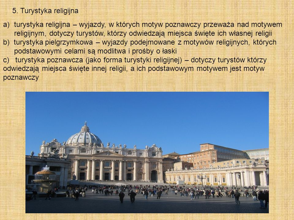 5. Turystyka religijna