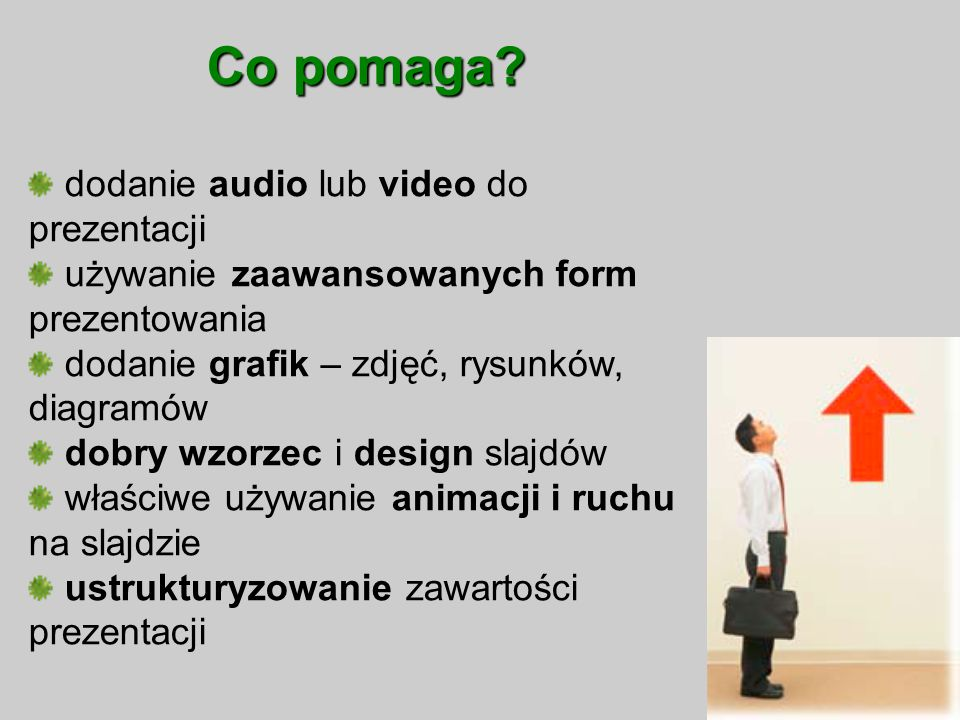 Co pomaga dodanie audio lub video do prezentacji