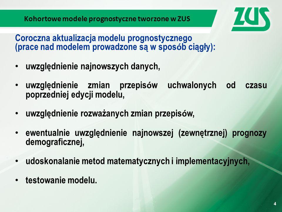 Kohortowe modele prognostyczne tworzone w ZUS