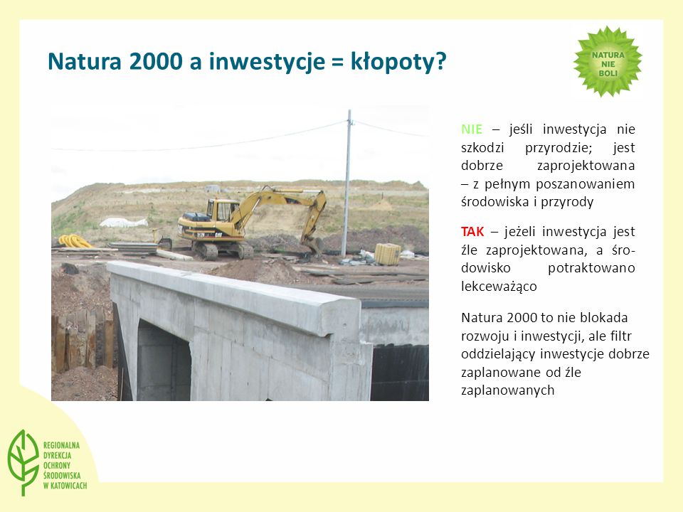 Natura 2000 a inwestycje = kłopoty