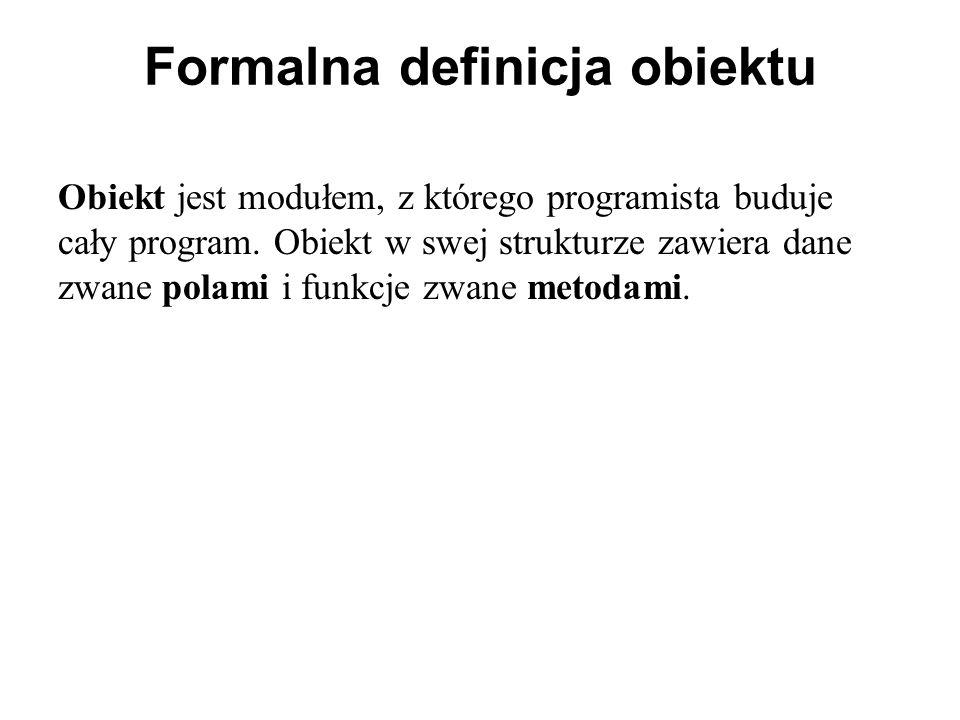 Formalna definicja obiektu