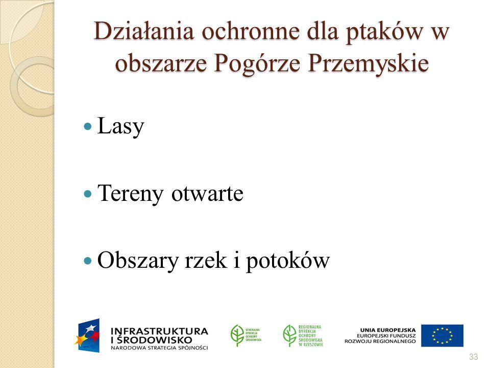 Działania ochronne dla ptaków w obszarze Pogórze Przemyskie